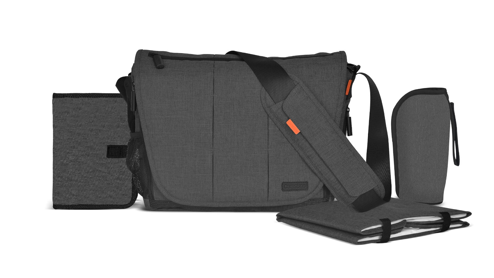 Morral Maternal Unisex Gris Oscuro